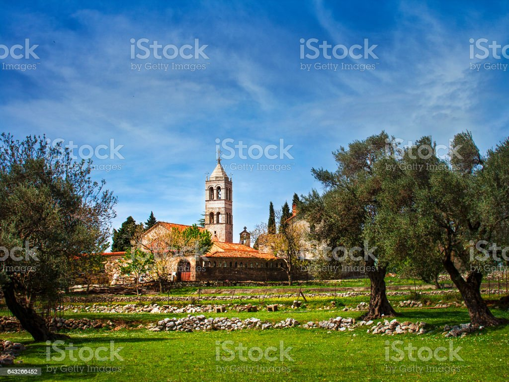 Rezevici monastery stock photo