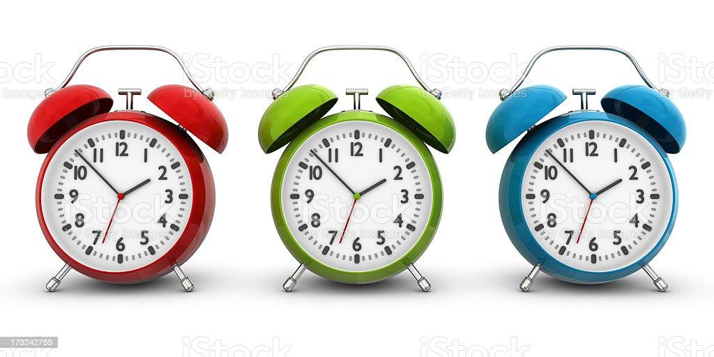 rgb alarm clocks royalty-free stock photo