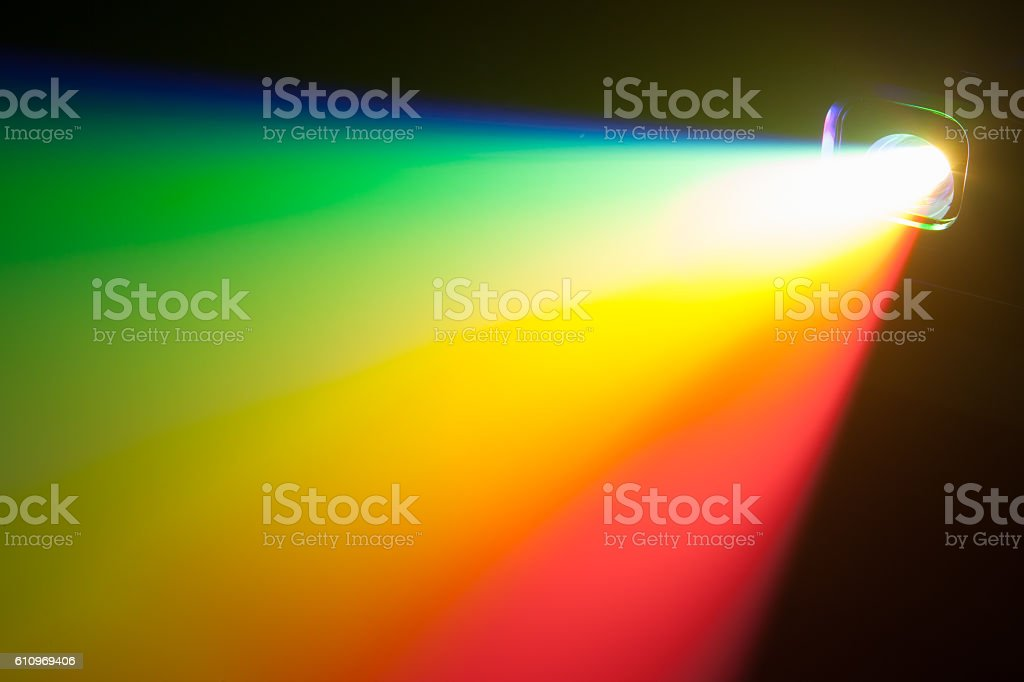 rgb spectrum light of projector stock photo
