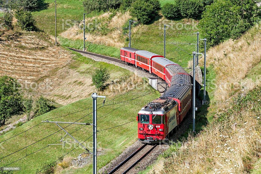 Rhaetian Railway stock photo