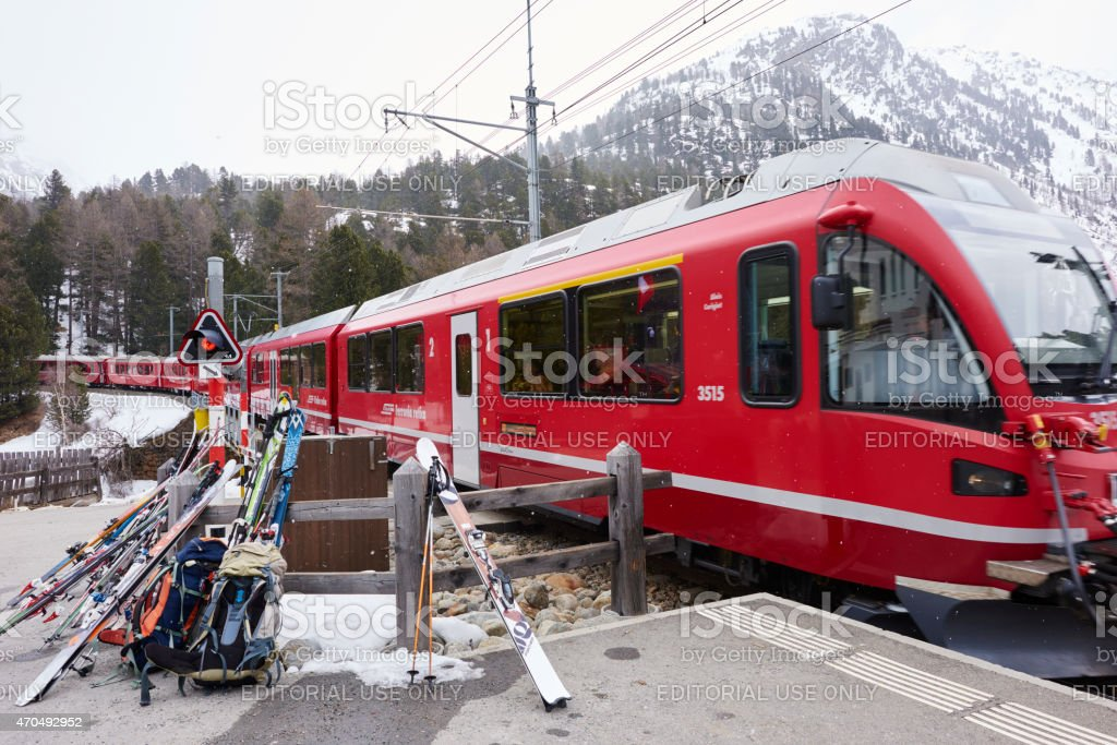 Rhaetian Railways Train stock photo