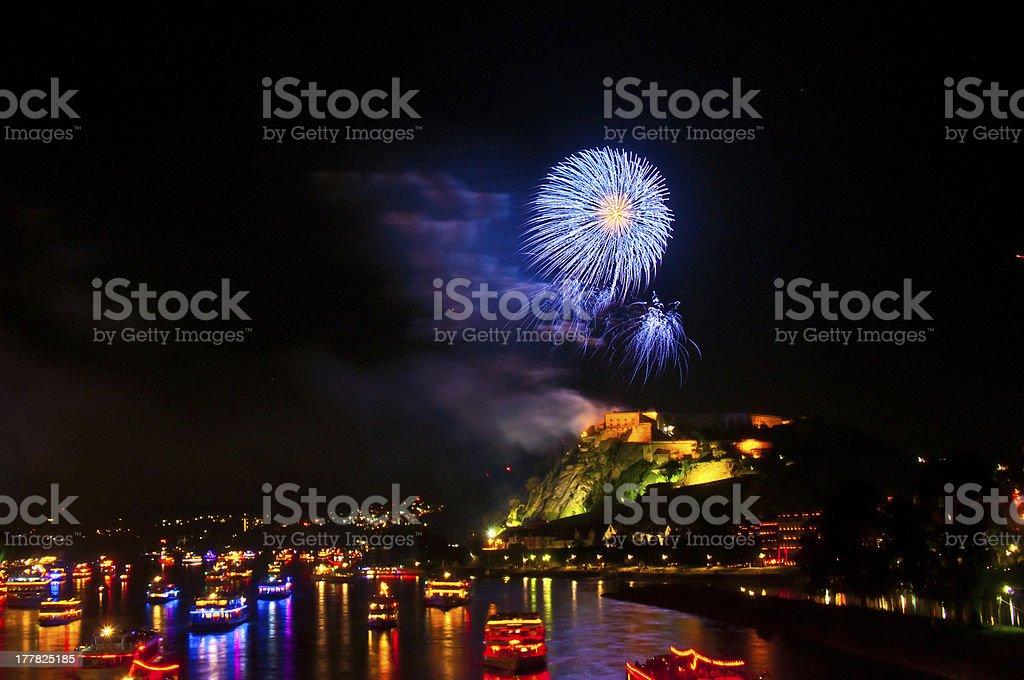 Rhein in Flammen stock photo