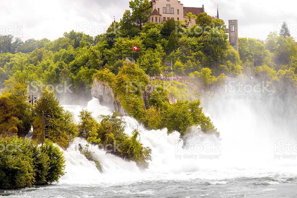 Rhein waterfall in Switzerland stock photo