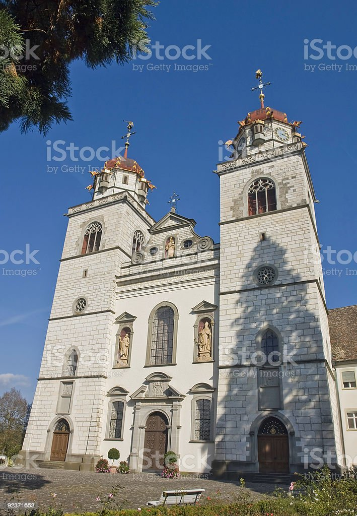Rheinau Church stock photo