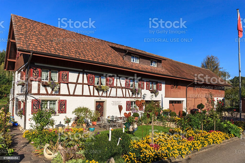 Rheinau, House - Switzerland stock photo