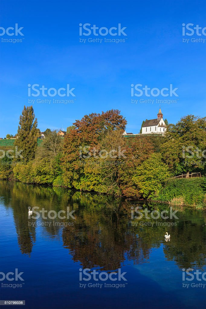 Rheinau, Rhine River - Switzerland stock photo