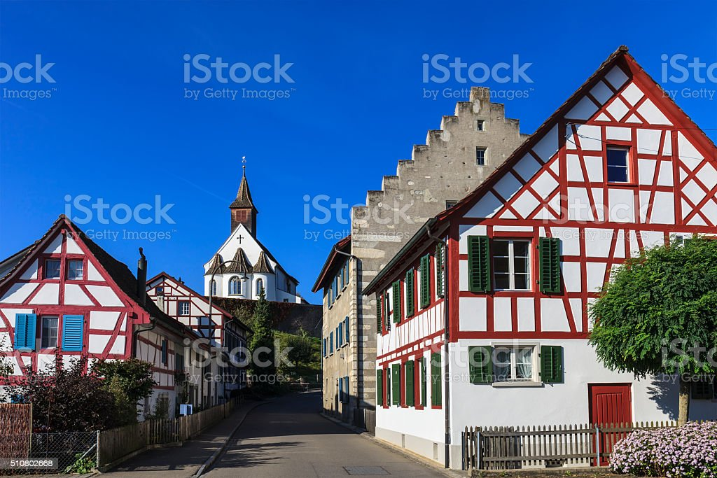 Rheinau - Switzerland stock photo