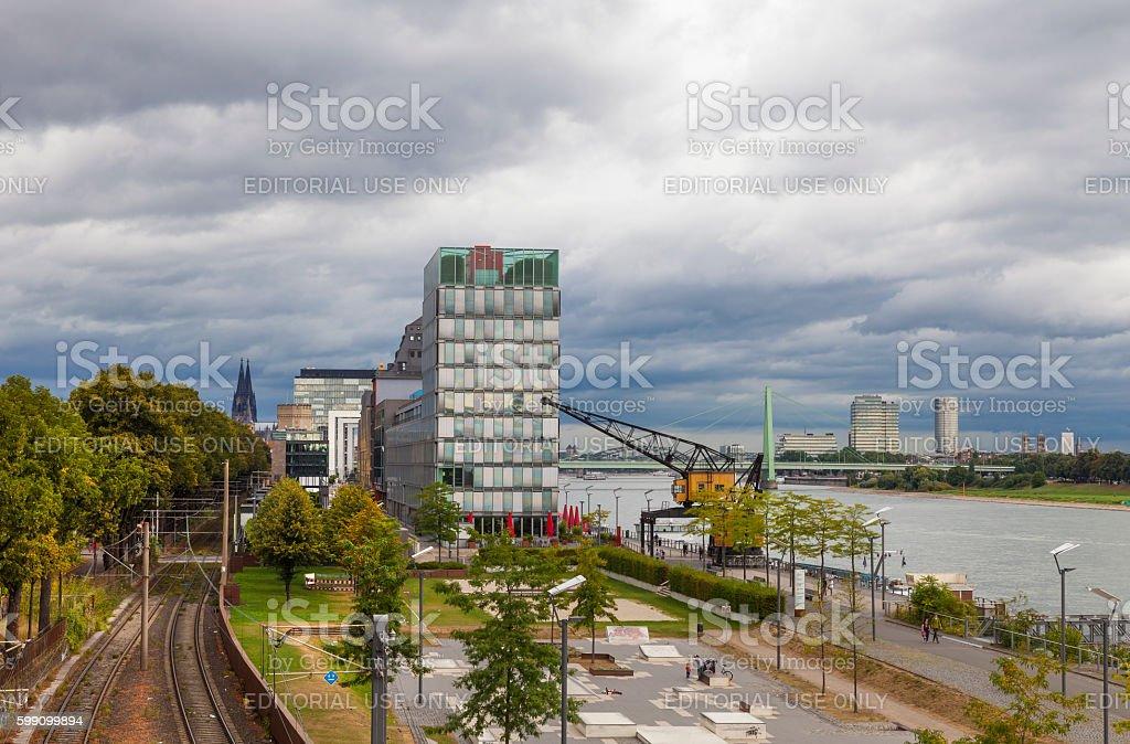 Rheinauhafen, Cologne, Germany stock photo