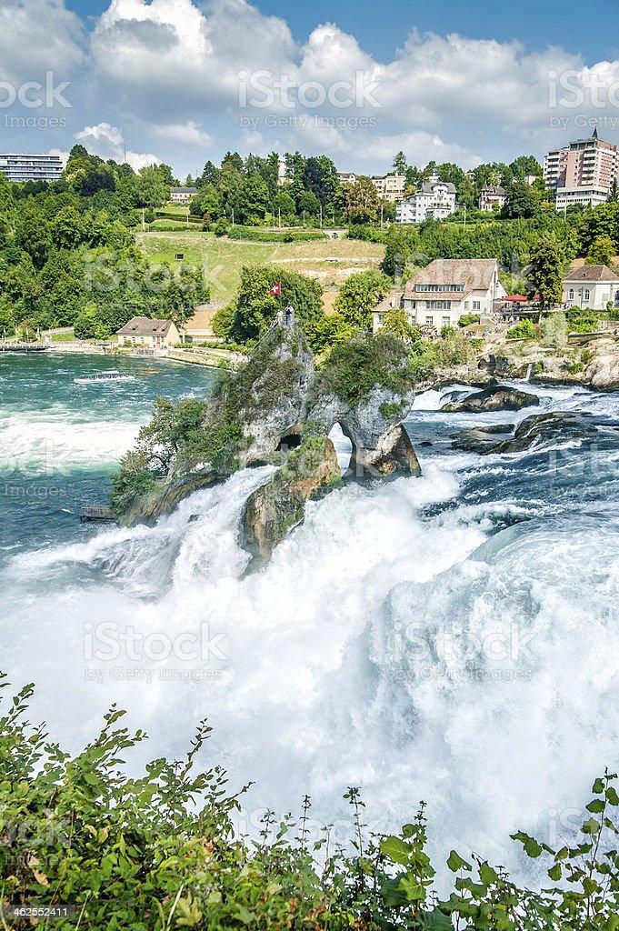 Rheinfall, Waterfall of the river Rhein stock photo