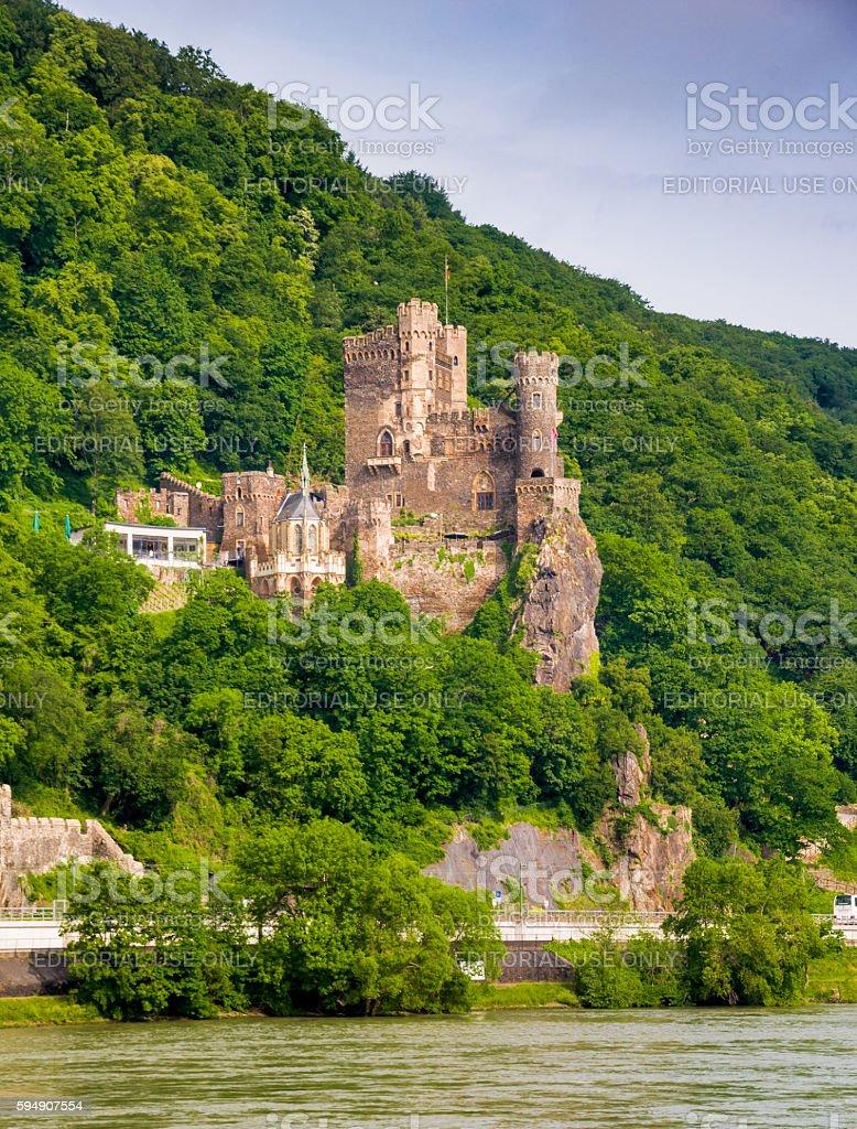 Rheinstein Castle stock photo