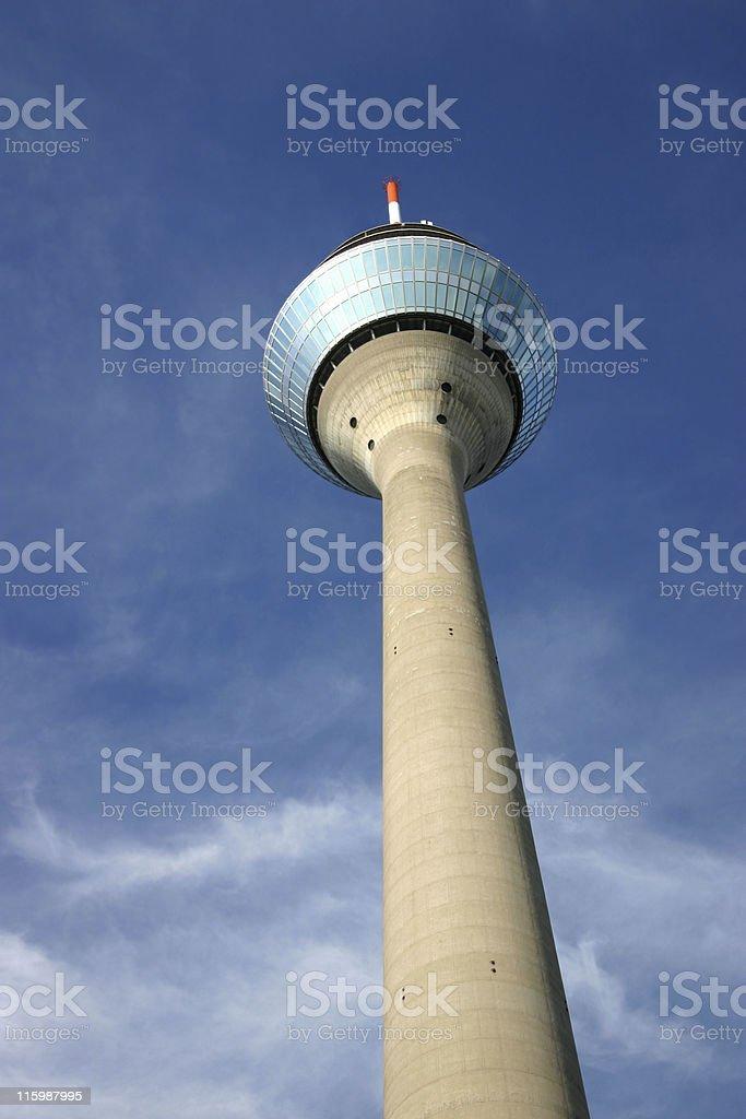 Rheinturm tower D?sseldorf stock photo