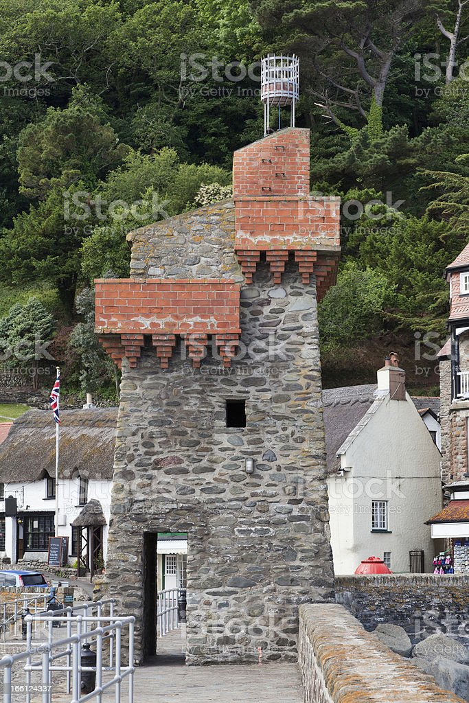Rhenish Tower Lynmouth Harbour in Devon UK stock photo