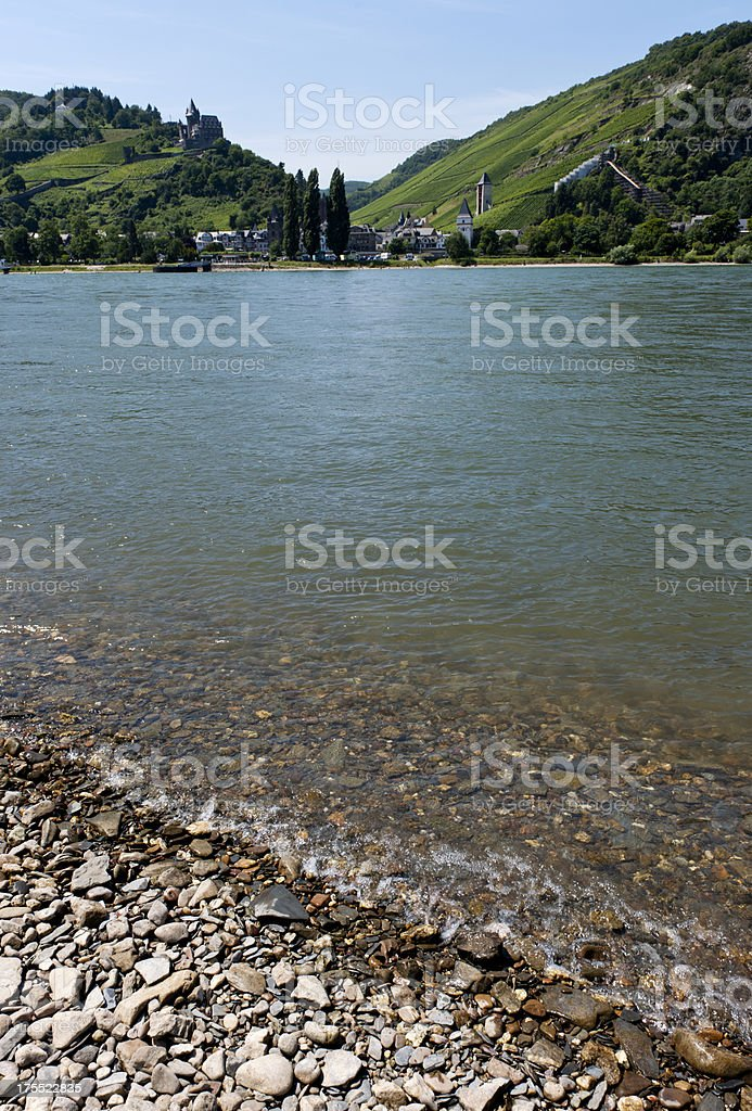 Rhine bank stock photo
