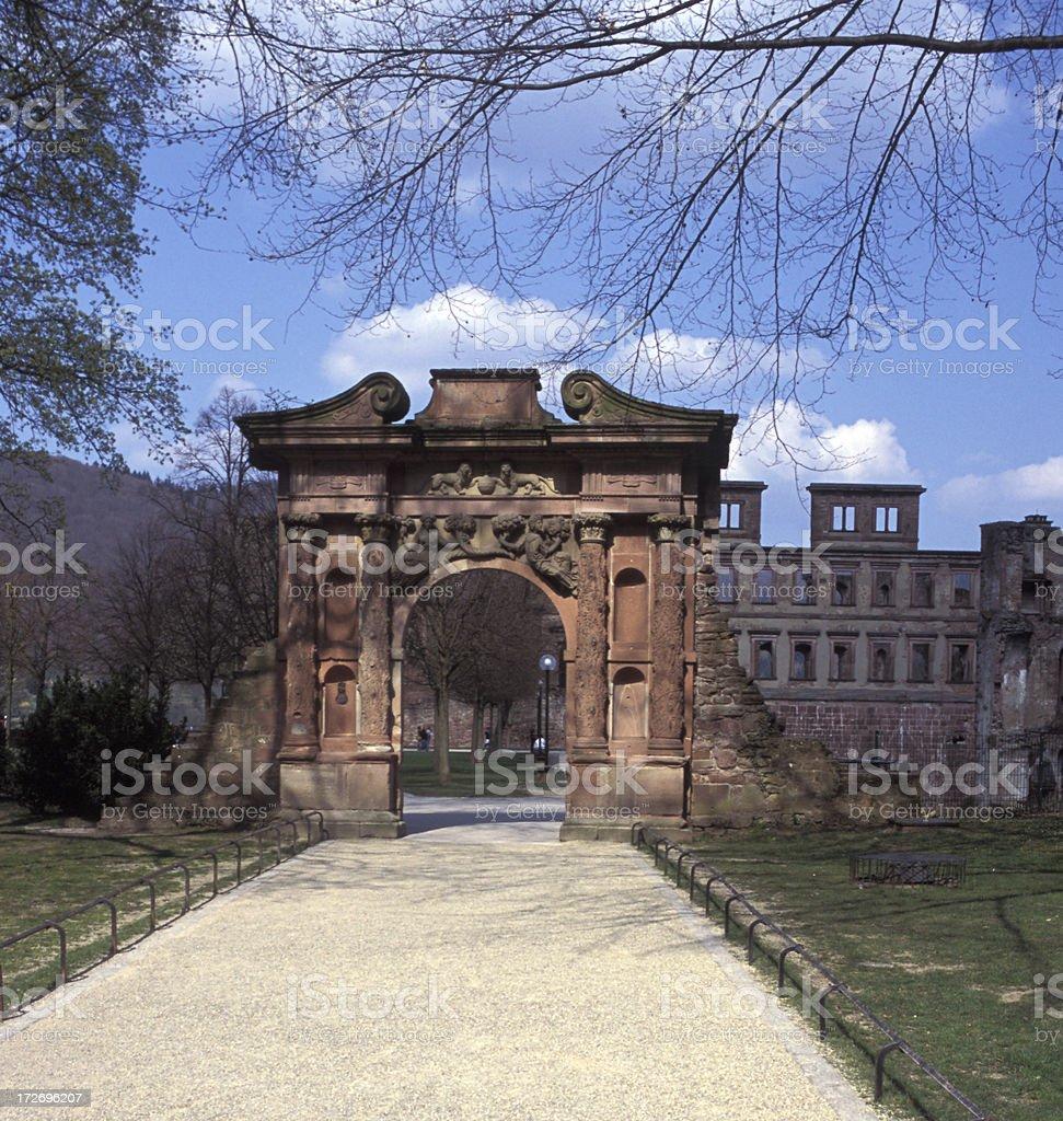 Rhine Castle Archway royalty-free stock photo