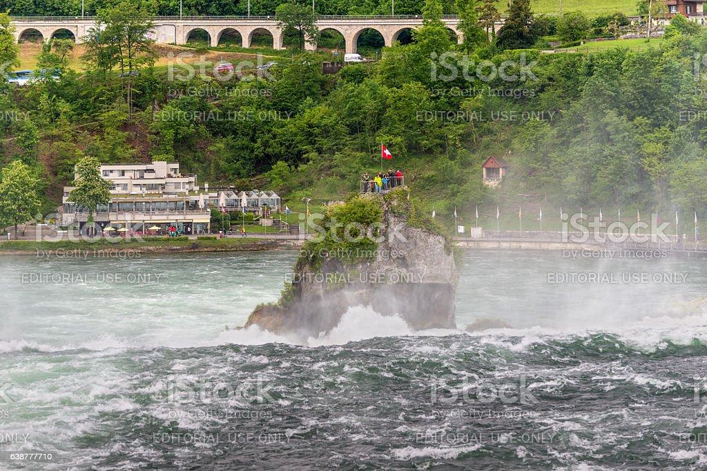 Rhine Falls in Neuhausen am Rheinfall, Schaffhausen, Switzerland stock photo