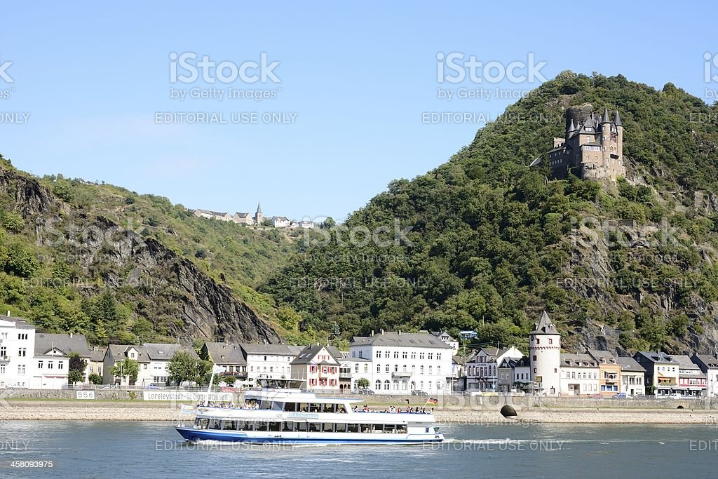 Rhine Gorge royalty-free stock photo