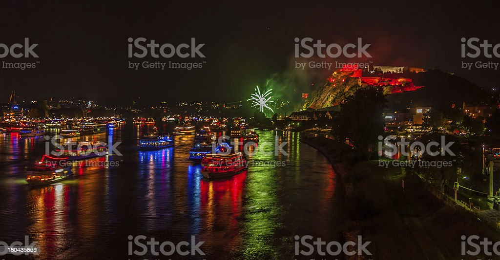 Rhine in Flames royalty-free stock photo