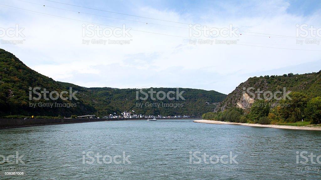 Rhine panorama stock photo