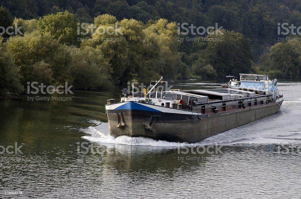 Rhine River Barge stock photo
