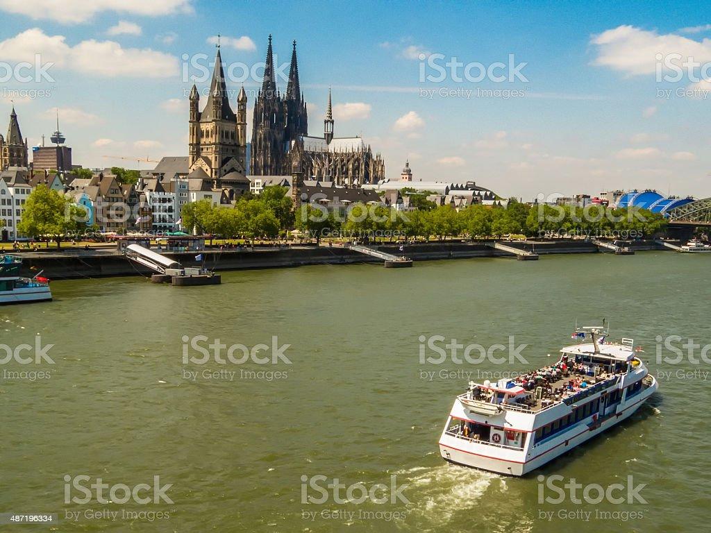 Rhine River Embankment stock photo