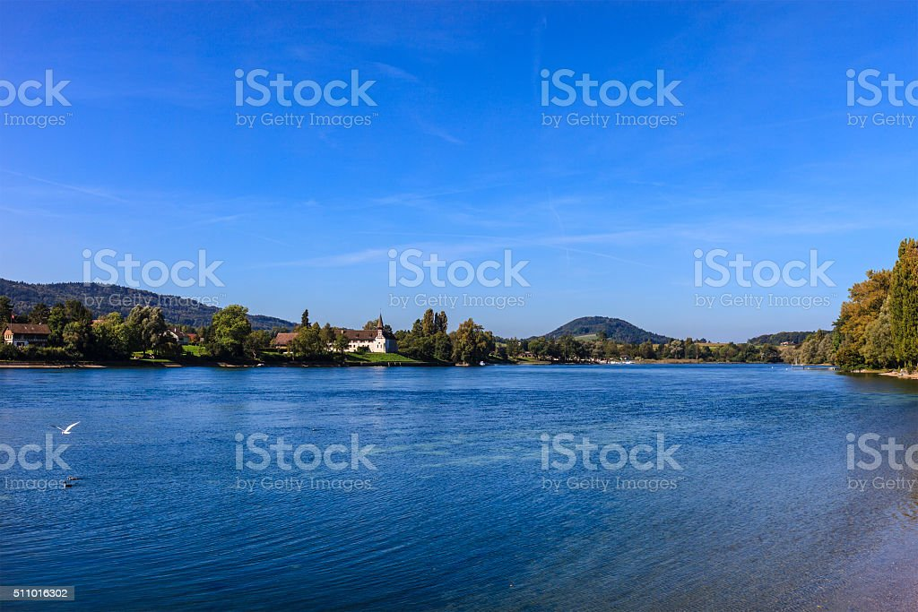 Rhine River stock photo