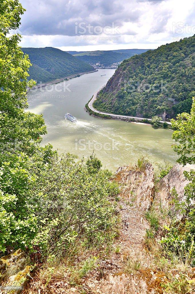 Rhine Valley in summer stock photo
