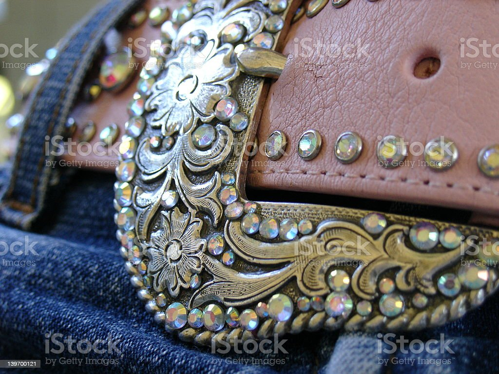 Rhinestone Cowgirl stock photo