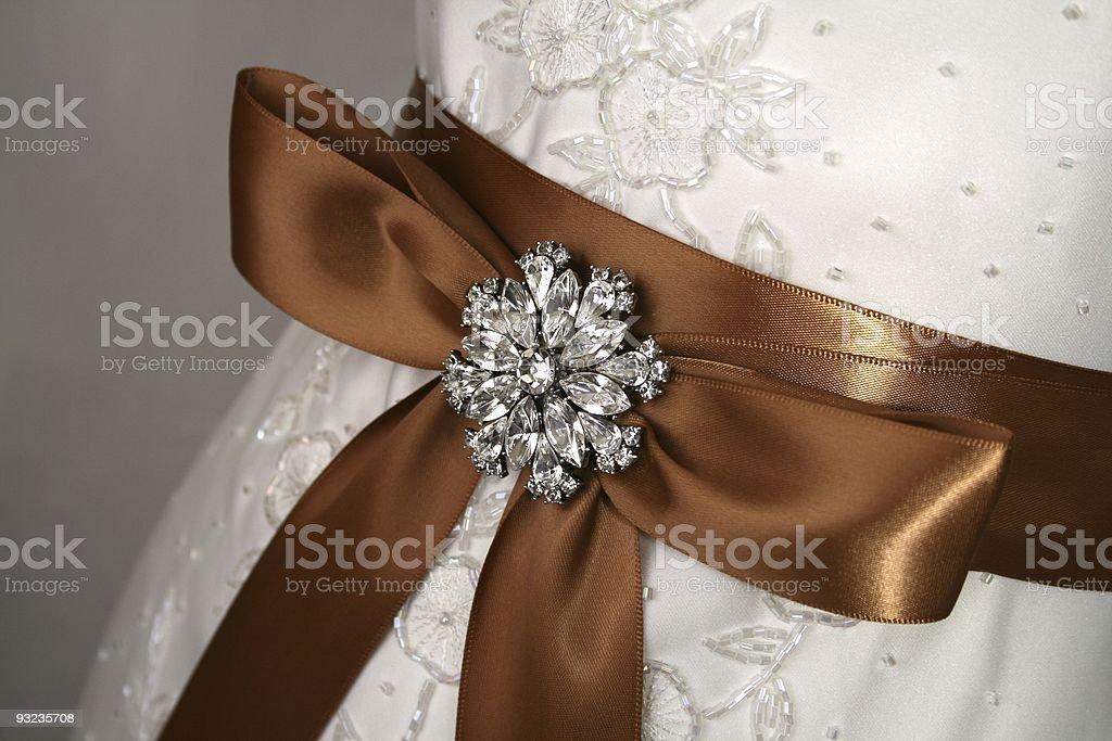 Rhinestone Wedding Brooch stock photo