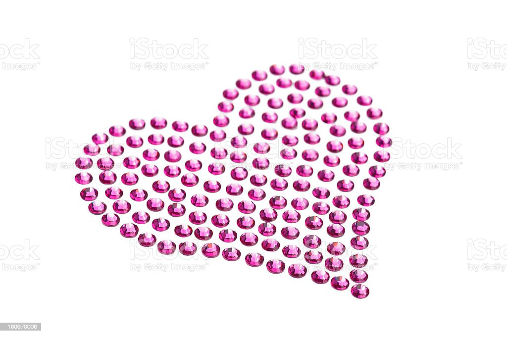 Rhinestones in form of a heart royalty-free stock photo