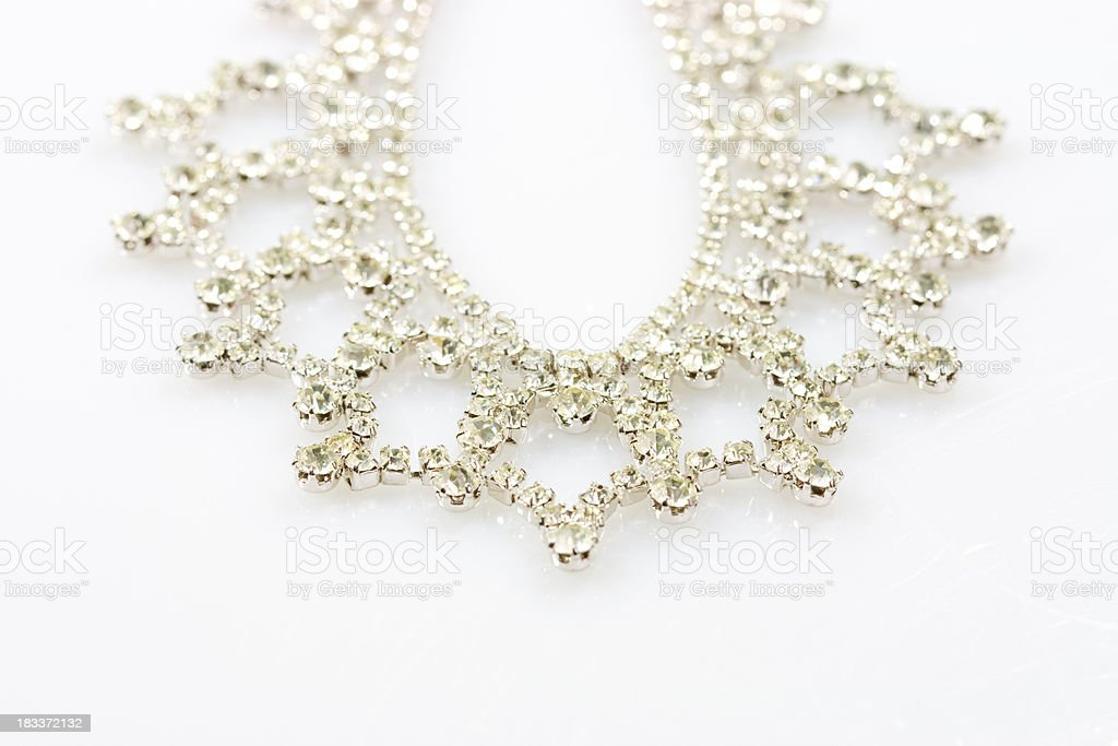 rhinestones necklace stock photo