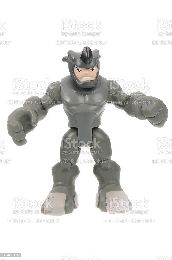 Rhino Action Figure stock photo