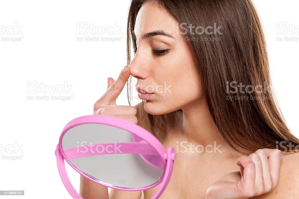 Rhinoplasty stock photo