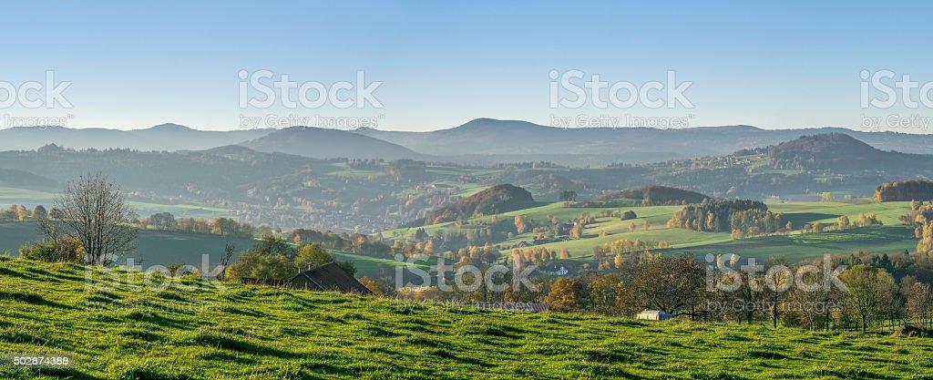 Rhönpanorama - 'Land der offenen Fernen' stock photo