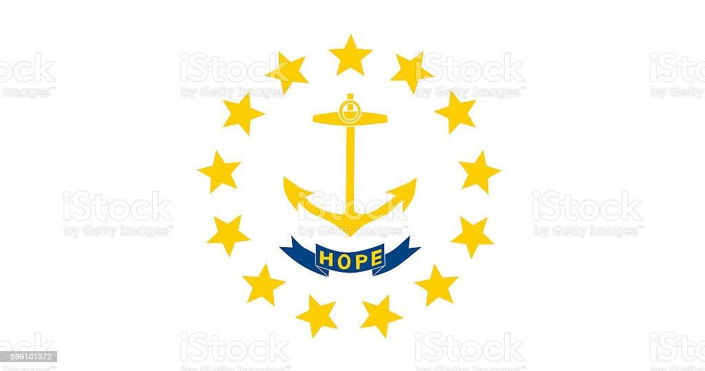 Rhode Island flag stock photo