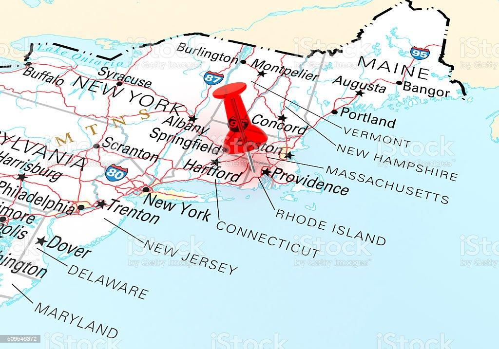 Rhode Island Map stock photo