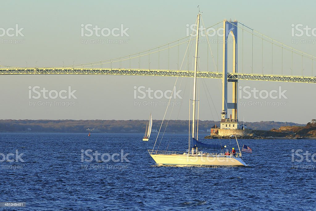 Rhode Island: Newport Bridge stock photo