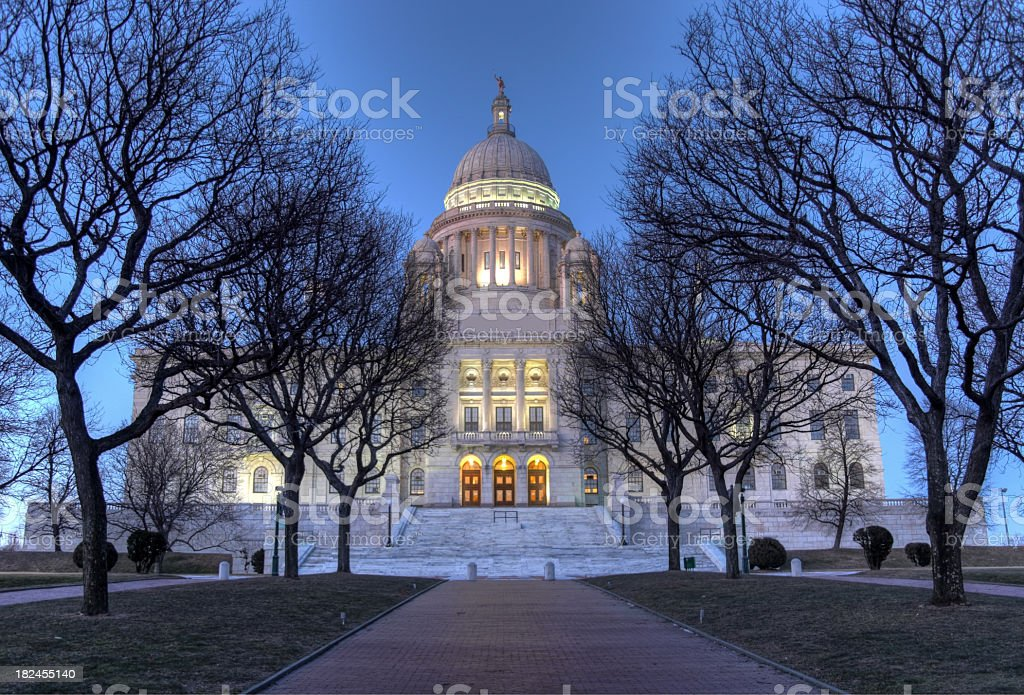 Rhode Island State House royalty-free stock photo
