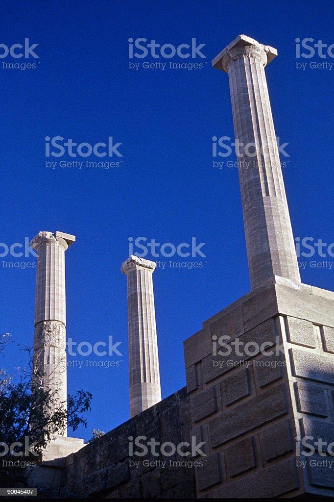 Rhodes- Acropolis Pillars royalty-free stock photo