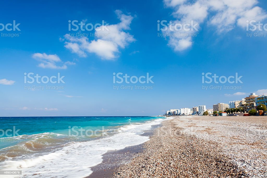 Rhodes Beach Greece stock photo