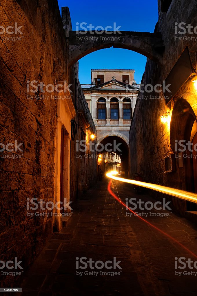 Rhodes Medieval (old) Town stock photo