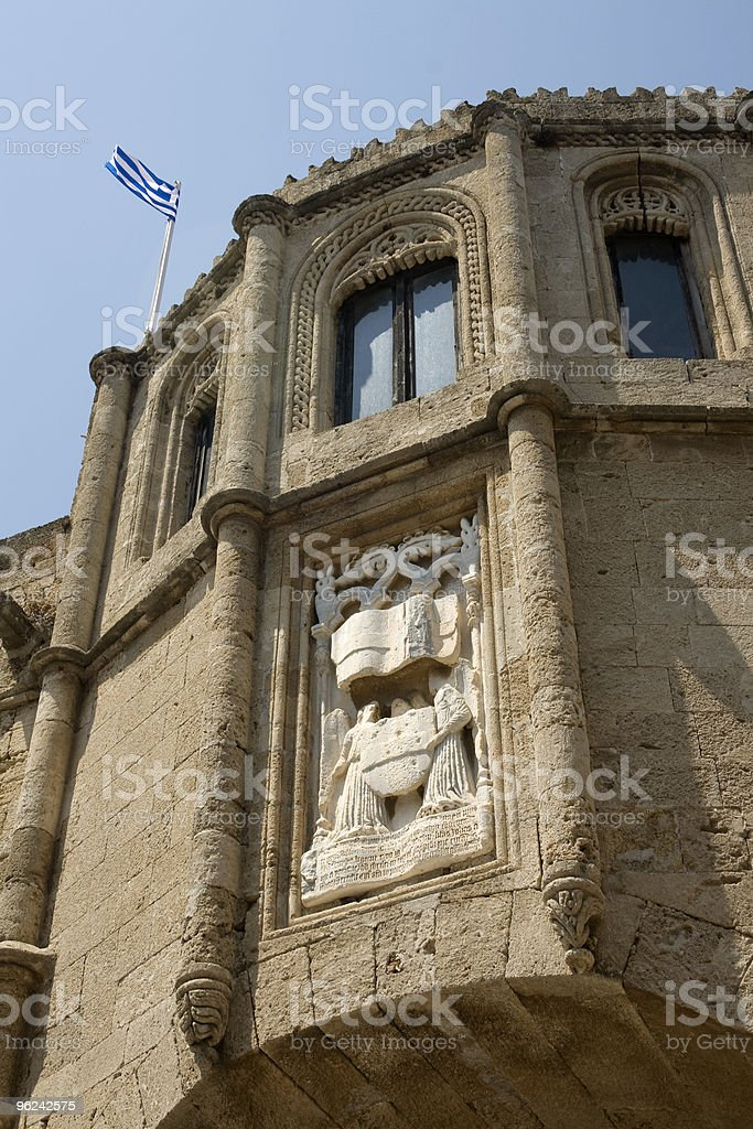 Rhodes Old City - Archaeological Museum Detail  Greece royalty-free stock photo
