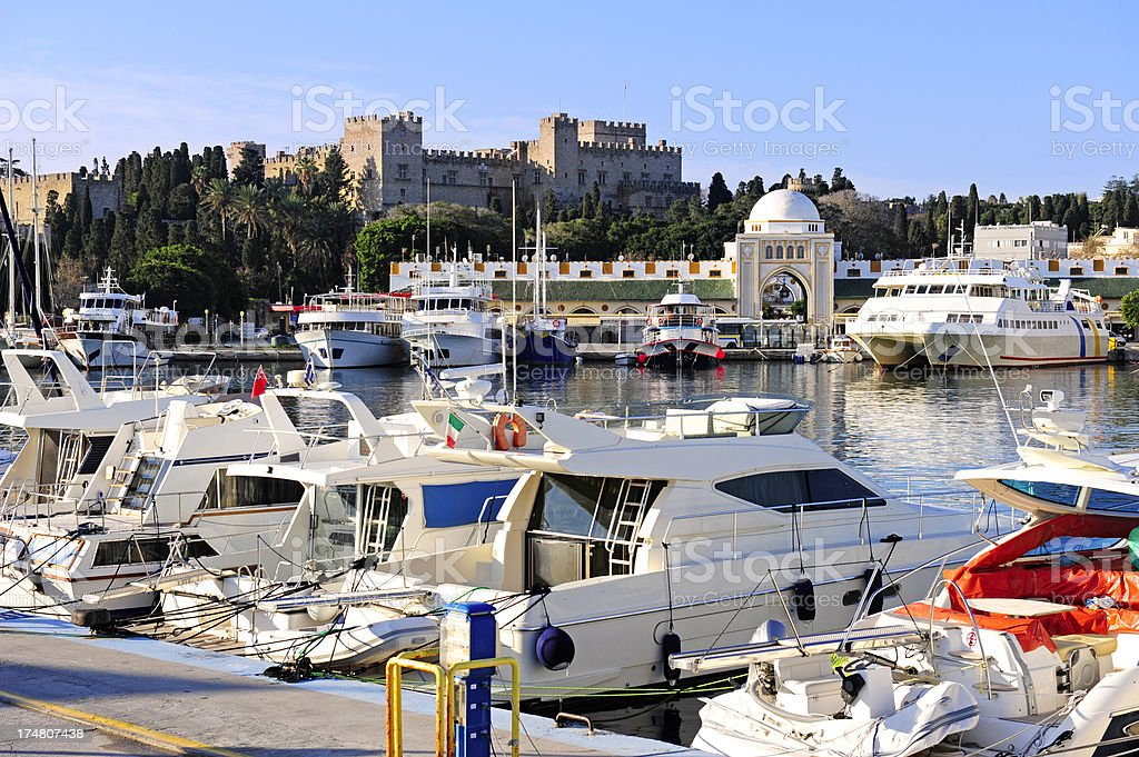 Rhodes skyline royalty-free stock photo