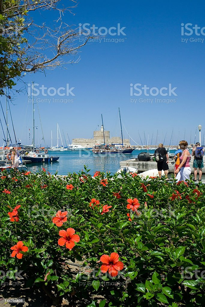 Rhodes, St. Nicholas Fortress royalty-free stock photo