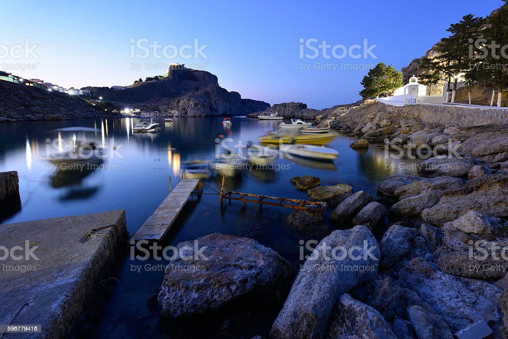 Rhodes, St. Paul's Bay stock photo