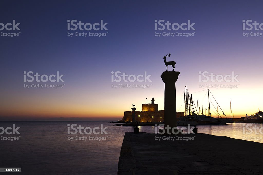 Rhodes Sunrise stock photo