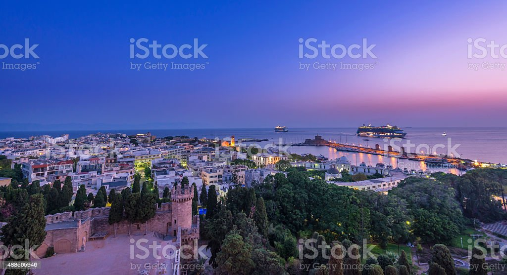 Rhodes sunrize stock photo