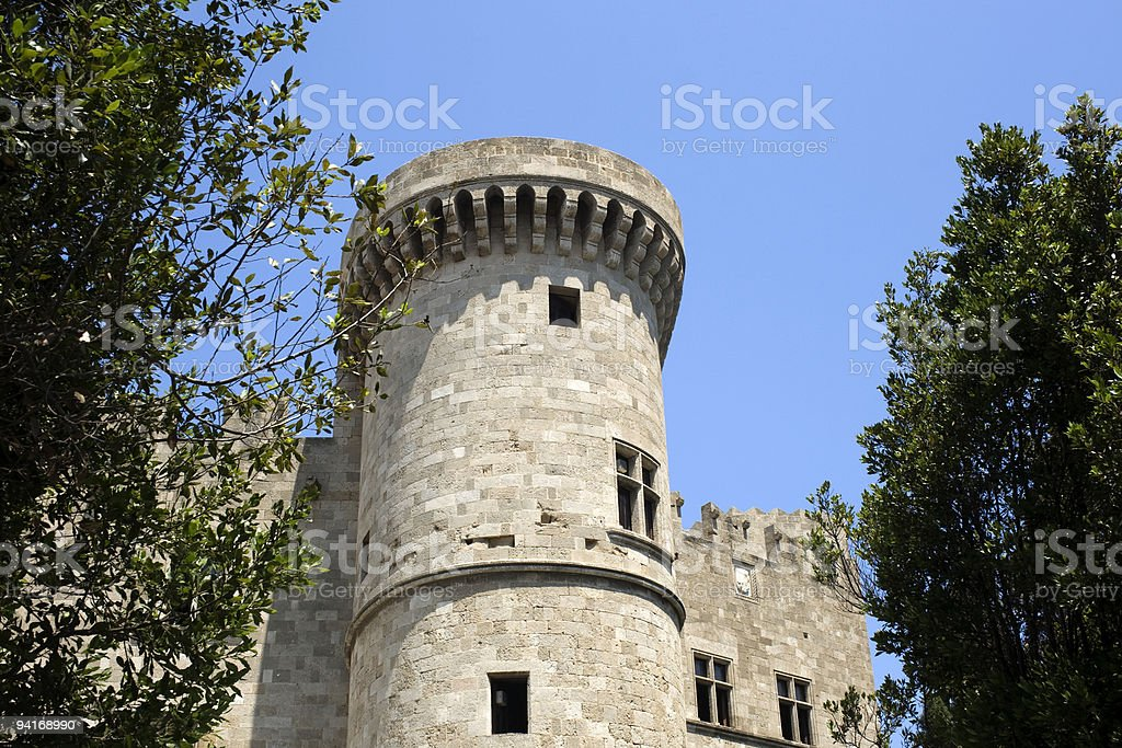 Rhodes - Walled medieval city royalty-free stock photo