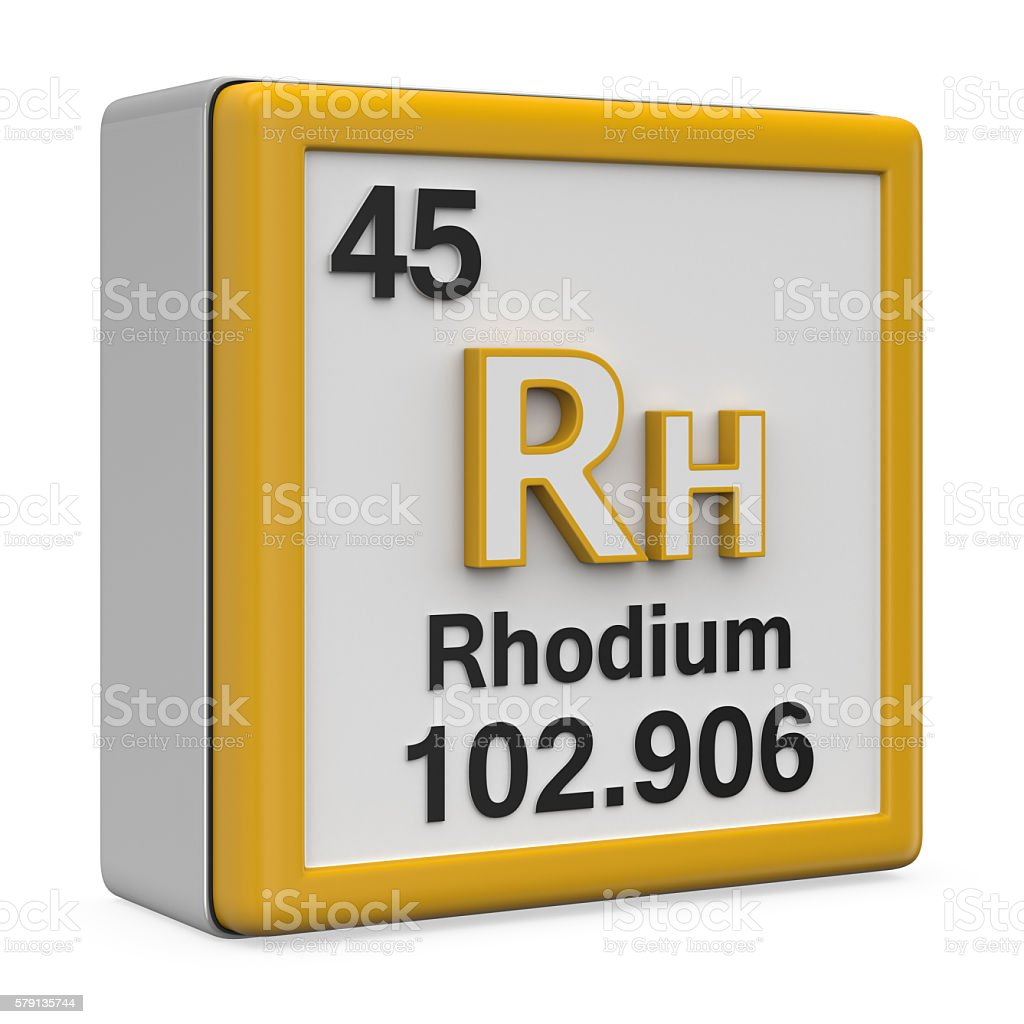Rhodium element stock photo