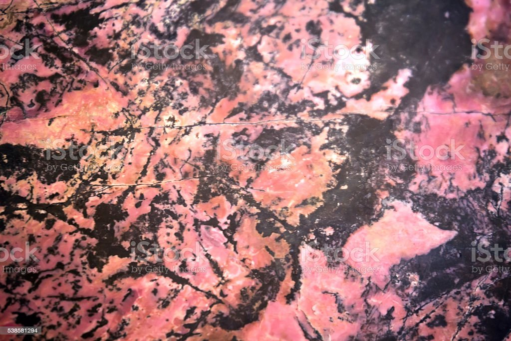 Rhodonite mineral background stock photo