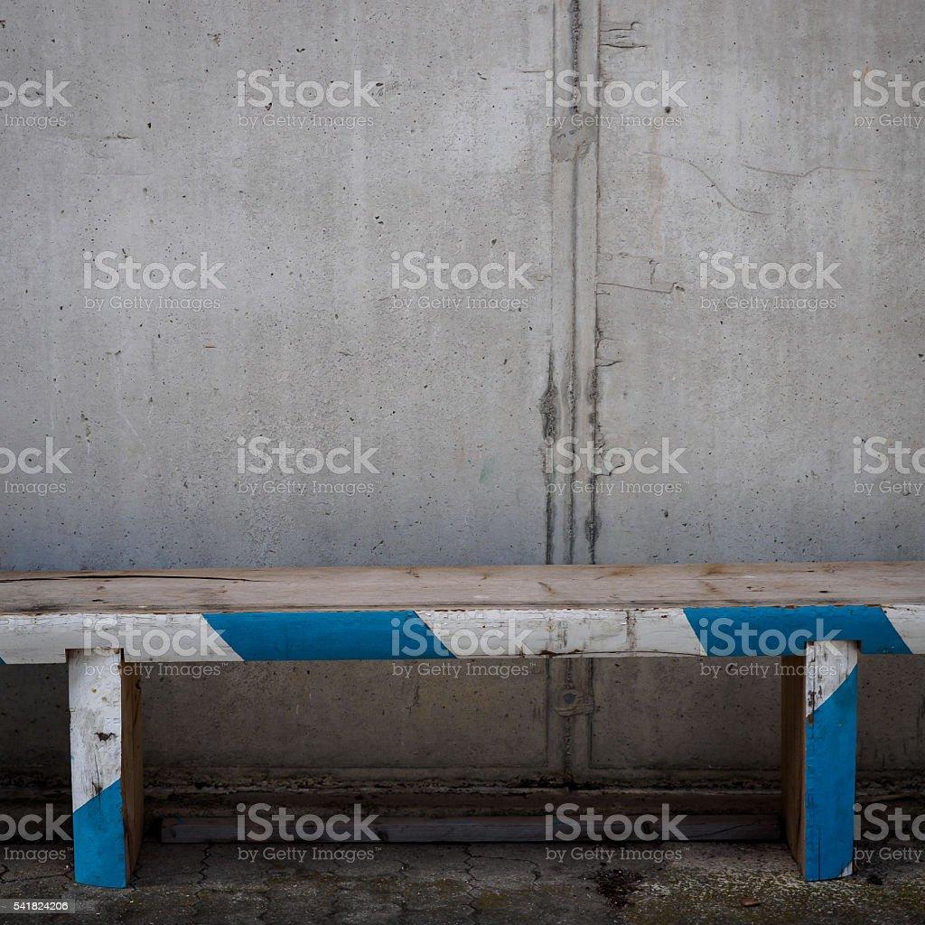 Rhombus bench stock photo